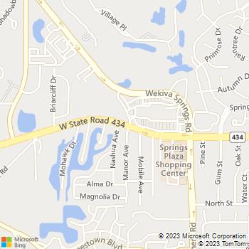 Map - Sanlando Springs Animal Hosp - 2500 W State Road 434 - Longwood, FL, 32779