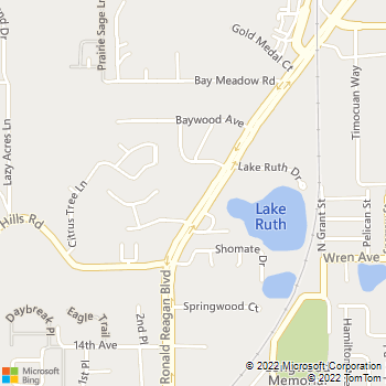 Map - Luv-N-Care Animal Hospital - 1482 Ronald Reagan Blvd - Longwood, FL, 32750