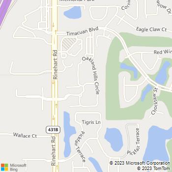 Map - Legends Lake Mary - 700 Oakland Hills Circle - Lake Mary, FL, 32746