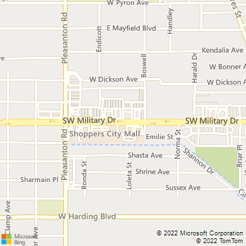 Map - Select Physical Therapy - 606 Sw Military Dr - San Antonio, TX, 78221