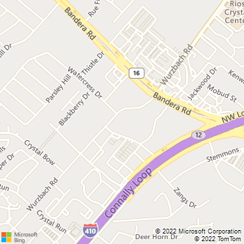 Map - Super 8 - 5336 Wurzbach Rd - San Antonio, TX, 78238