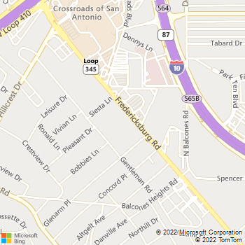 Map - Animal Emergency Room - 4315 Fredericksburg Road #2 - San Antonio, TX, 78201