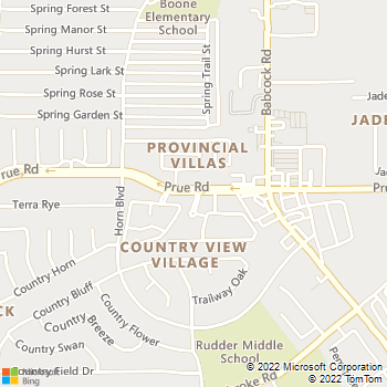 Map - Babcock Hills Veterinary Hospital - 6600 Prue Rd. - San Antonio, TX, 78240