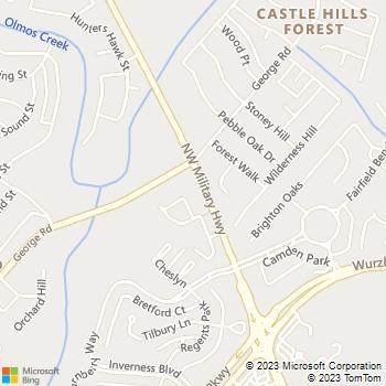 Map - VCA Animal Hospital - 13141 NW Military Hwy - San Antonio, TX, 78231