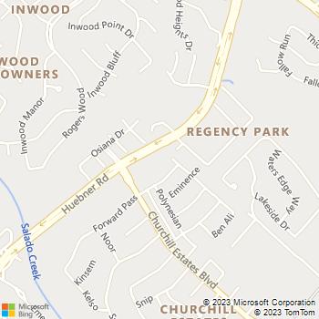 Map - Smith & Shedd Family Pet Clinic - 15714 Huebner Rd - San Antonio, TX, 78248