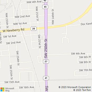 Map - Newberry Animal Hospital - 280 SW 250th Street - Newberry, FL, 32669