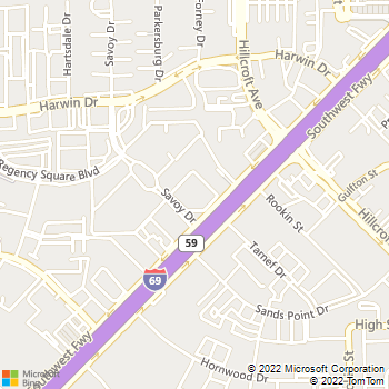 Map - Dollar Rent A Car - 6780 S. W. Freeway - Houston, TX, 77074