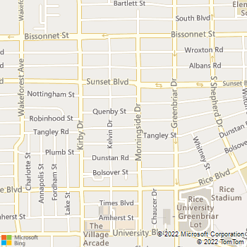 Map - Animal & Avian Hospital - 2422 Robinhood St - Houston, TX, 77005
