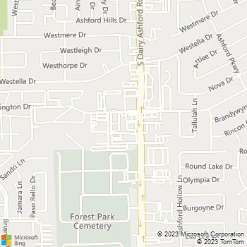 Map - VCA Ashford Animal Hospital - 12633 Whittington - Houston, TX, 77077