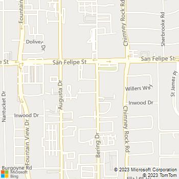 Map - The Lasik Vision Institute, LLC - 1800 Bering Drive - Houston, TX, 77057