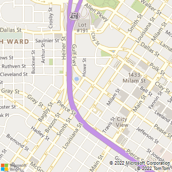 Map - Thrifty Car Rental - 1700 Smith Street - Houston, TX, 77002