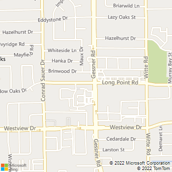 Map - VCA Spring Branch Animal Hospital - 10109 Long Point Road - Houston, TX, 77043