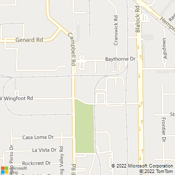 Map - All My Sons Moving & Storage - 9550 W. Wingfoot Rd. - Houston, TX, 77041