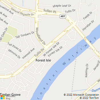 Map - Forest Isle Apartments - 5000 Woodland Drive - New Orleans, LA, 70131