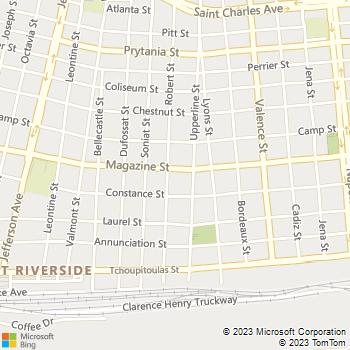 Map - New Orleans Progressive Physical - 4930 Magazine Street - New Orleans, LA, 70115