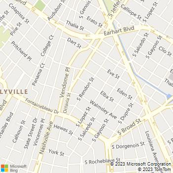 Map - Cavalier Home and Garden - 4500 Elba Street - New Orleans, LA, 70125