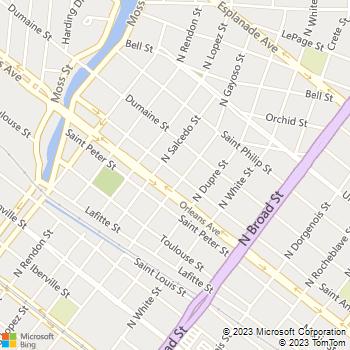 Map - Absolute Lawn Care LA - PO Box 52912 - New Orleans, LA, 70119
