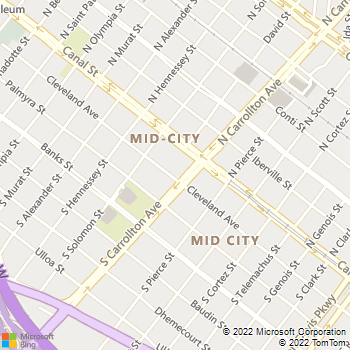 Map - Allstar Animal Clinic - 4701 S. Carrollton Ave - New Orleans, LA, 70119