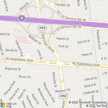 Map - Kool Smiles - 2222 Clearview Pkwy. - Metairie, LA, 70001