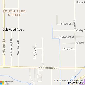 Map - Villas of Sunnyside - 1425 Washington Village Pkwy - Beaumont, TX, 77707