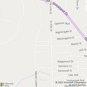 Map - Oakwood Village - 1521 N 37th St - Orange, TX, 77630