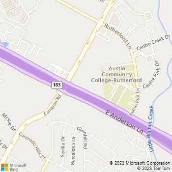 Map - Animal Medical Center - 1536 E Anderson Ln - Austin, TX, 78752