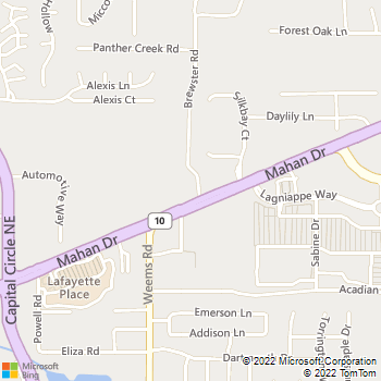 Map - Mahan Animal Clinic - 3348 Mahan Dr - Tallahassee, FL, 32308