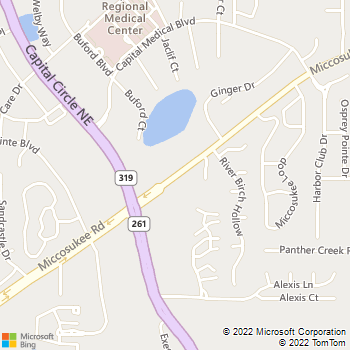 Map - Indian Ridge Apartments - 2924 Miccosukee Rd - Tallahassee, FL, 32308