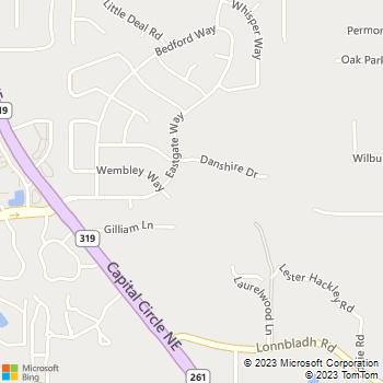 Map - Tallahassee Regional Vet - 2205 Danshire Dr. - Tallahassee, FL, 32308