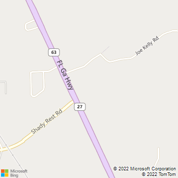Map - Winter Animal Hospital - 1140 Florida-Georgia Highway - Havana, FL, 32333