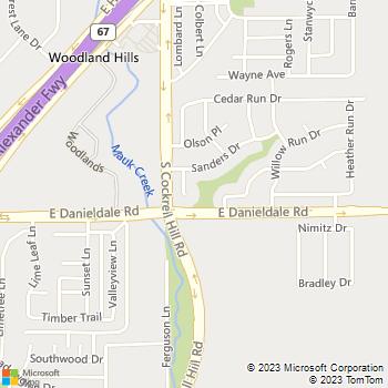 Map - Plumbing King Contractors - 1426 Aaron Place - Duncanville, TX, 75137