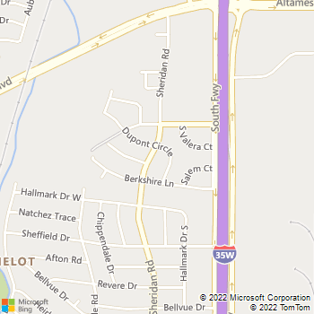 Map - Plumb Masters - 6705 Sheridan Road - Fort Worth, TX, 76134
