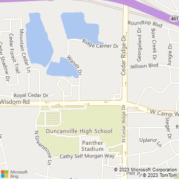 Map - Cedar Glen - 6363 West Camp Wisdom Road - Dallas, TX, 75236