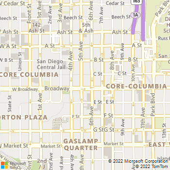 Map - Broadway Lofts - 1007 5th Ave - San Diego, CA, 92101