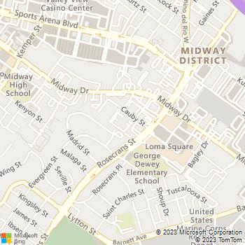 Map - Loma Portal Apartments - 3131 Cauby St - San Diego, CA, 92110