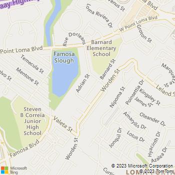 Map - Loma Palisades Apartments - 2799 Adrian Street - San Diego, CA, 92110