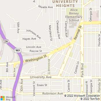 Map - Bridgeview Place - 1299 Lincoln Ave - San Diego, CA, 92103