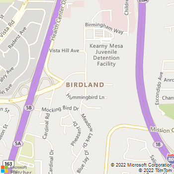Map - eaves Mission Ridge - 2745 Meadow Lark Drive - San Diego, CA, 92123