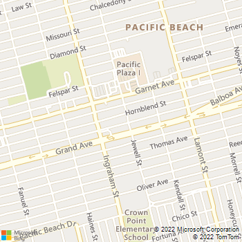 Map - Bahia Jewell Apartment Homes - 4430 Jewell St - San Diego, CA, 92109