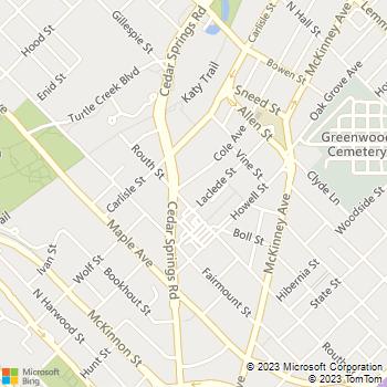 Map - Gables Mirabella - 2600 Cole Ave - Dallas, TX, 75204