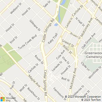 Map - Gables Katy Trail - 2821 Carlisle St - Dallas, TX, 75204