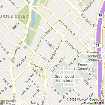 Map - Gables Uptown Tower - 3227 McKinney Ave - Dallas, TX, 75204