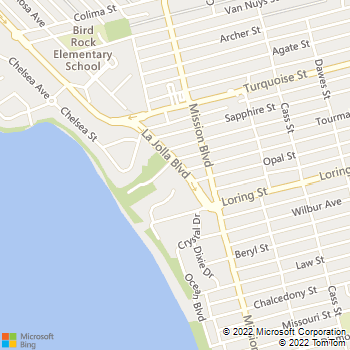 Map - Casas By The Sea - 5060 La Jolla Blvd - San Diego, CA, 92109