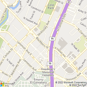 Map - Allure of West Village - 2990 Blackburn St - Dallas, TX, 75204