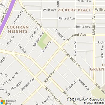 Map - Eastwood on Henderson Apartments - 5215 Belmont Avenue - Dallas, TX, 75206