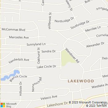 Map - Medallion Animal Clinic - 902 Medallion Shopping Ctr - Dallas, TX, 75214