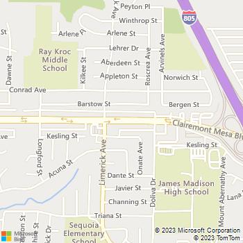 Map - Mesa Village Apartments - 5265 Clairemont Mesa Blvd - San Diego, CA, 92117