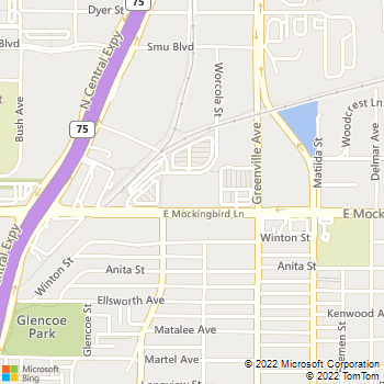Map - Pure Spa & Salon - 5555 E Mockingbird Ln - Dallas, TX, 75206