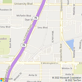 Map - Everest College - 6080 N. Central Expressway - Dallas, TX, 75206