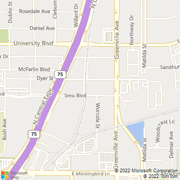 Map - Shelby Apartments - 5609 SMU Blvd - Dallas, TX, 75206